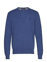 Merino Wool Crewneck Sweater - SHALE BLUE HEATHE