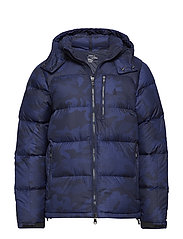 Water-Repellent Down Jacket - AVIATOR NAVY SNOW