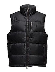 Water-Repellent Down Vest - POLO BLACK
