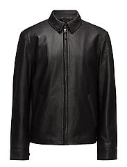 Lambskin Leather Jacket - POLO BLACK