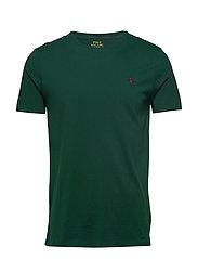 Custom Slim Fit Cotton T-Shirt - COLLEGE GREEN/SIG