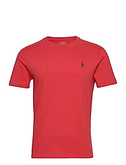 Custom Slim Crewneck T-Shirt - EVENING POST RED/
