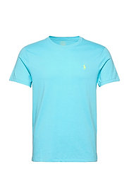 Custom Slim Crewneck T-Shirt - FRENCH TURQUOISE/