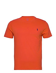 Custom Slim Crewneck T-Shirt - ORANGEY RED/C4983
