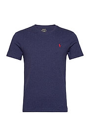 Custom Slim Crewneck T-Shirt - SPRING NAVY HEATH