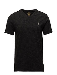 Custom Slim Cotton T-Shirt - BLACK MARL HEATHE