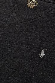 Polo Ralph Lauren - Custom Slim Fit V-Neck T-Shirt - short-sleeved t-shirts - black marl heathe - 2