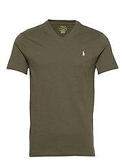 Custom Slim Fit V-Neck T-Shirt - DEFENDER GREEN/C8