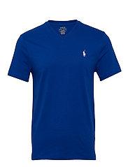 Custom Slim Fit V-Neck T-Shirt - PACIFIC ROYAL/C17