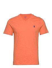 Custom Slim Fit V-Neck T-Shirt - SPRING MELON HEAT