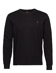 7a699cec8f21a Custom Slim Fit Cotton T-Shirt - POLO BLACK. Polo Ralph Lauren