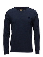 Long Sleeve-T-Shirt - WORTH NAVY HEATHE