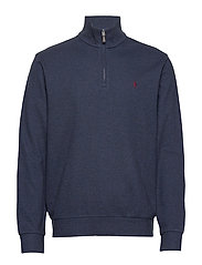 Double-Knit Half-Zip Pullover - MONROE BLUE HEATH