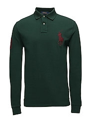 Custom Slim Long-Sleeve Polo - COLLEGE GREEN