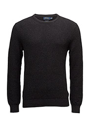 Cotton Crewneck Sweater - CHARCOAL GREY HEATHER