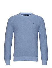 Cotton Crewneck Sweater - JAMAICA BLUE HEAT