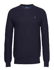 Cotton Crewneck Sweater - NAVY HEATHER
