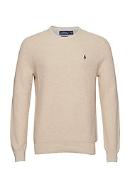 Cotton Crewneck Sweater - OATMEAL HEATHER