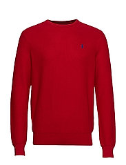 Cotton Crewneck Sweater - PARK AVENUE RED