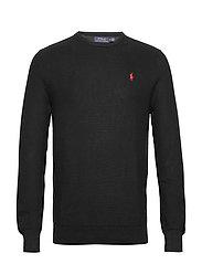 Cotton Crewneck Sweater - POLO BLACK