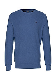 Cotton Crewneck Sweater - ROYAL HEATHER