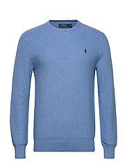 Cotton Crewneck Sweater - SOFT ROYAL HEATHE