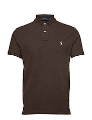 Custom Slim Fit Mesh Polo - ALPINE BROWN HEAT