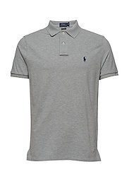 Custom Slim Fit Mesh Polo - ANDOVER HEATHER/C
