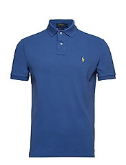 Custom Slim Fit Mesh Polo - BAI BLUE/C1231