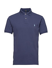 Custom Slim Fit Mesh Polo - BOATHOUSE NAVY/C7