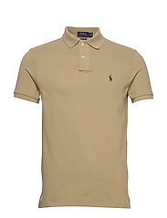 Custom Slim Fit Mesh Polo - BOATING KHAKI/C59