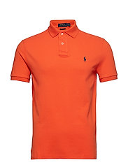 Custom Slim Fit Mesh Polo - BRIGHT PREPPY ORA