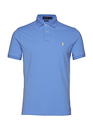 Custom Slim Fit Mesh Polo - CABANA BLUE