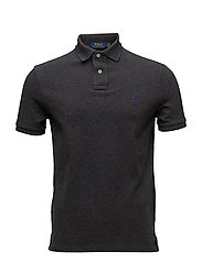 Custom Slim Fit Mesh Polo - DARK GREY HEATHER