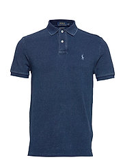 Custom Slim Fit Mesh Polo - DARK INDIGO/C7503
