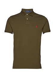 Custom Slim Fit Mesh Polo - DEFENDER GREEN