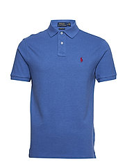 Custom Slim Fit Mesh Polo - DOCKSIDE BLUE HEA
