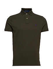 Custom Slim Fit Mesh Polo - ESTATE OLIVE/C498