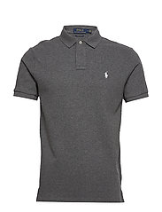 Custom Slim Fit Mesh Polo - FORTRESS GREY HEA