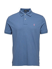 Custom Slim Fit Mesh Polo - FRENCH BLUE/C3125