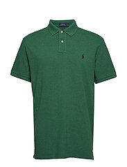 Custom Slim Fit Mesh Polo - GREEN HEATHER/C49