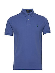Custom Slim Fit Mesh Polo - INDIGO SKY/C5980