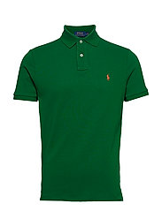 Custom Slim Fit Mesh Polo - JERRY GREEN/C2257