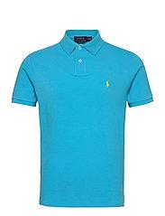 Custom Slim Fit Mesh Polo - LINDSAY BLUE/C129