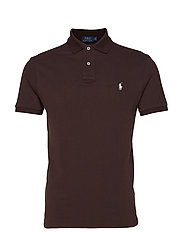 Custom Slim Fit Mesh Polo - MEDIEVAL BROWN/C1