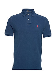 Custom Slim Fit Mesh Polo - MEDIUM INDIGO/C38