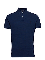 Custom Slim Fit Mesh Polo - MONROE BLUE HEATH