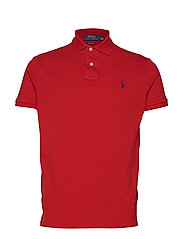 Custom Slim Fit Mesh Polo - PIONEER RED/C7315