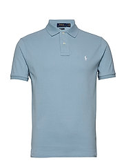 Custom Slim Fit Mesh Polo - POWDER BLUE/C1750