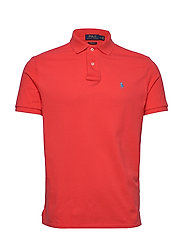 Custom Slim Fit Mesh Polo - RACING RED/C6934